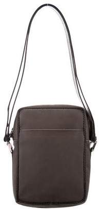 Bottega Veneta Leather-Trimmed Woven Bag