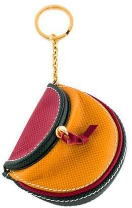 Bottega Veneta Leather Travel Keychain
