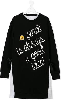 Fendi TEEN slogan jumper dress