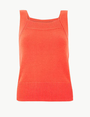 Marks and Spencer PETITE Pure Cotton Textured Knitted Top