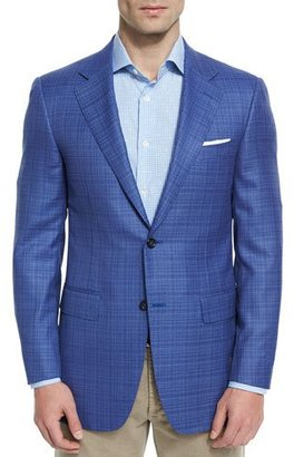 Canali Sienna Contemporary-Fit Textured Sport Coat, Light Blue $1,395 thestylecure.com