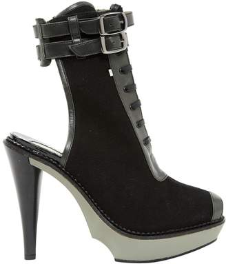 Sportmax Black Cloth Ankle boots