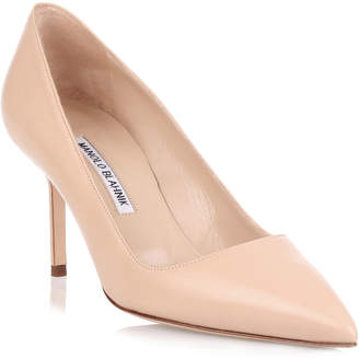 Manolo Blahnik BB70 nude leather pump
