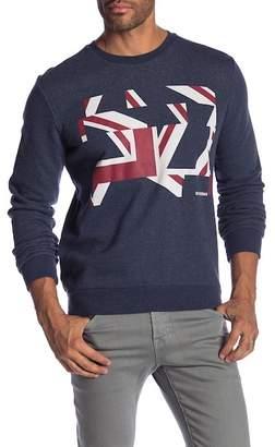 Ben Sherman Long Sleeve Distort Union Jack Sweater