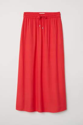 H&M Calf-length Skirt - Red