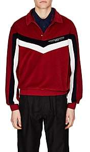 Givenchy Men's Colorblocked Velvet Polo Shirt - Red