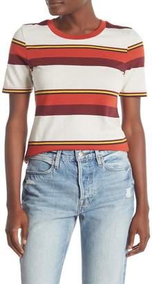 Frame Striped Crew Neck T-Shirt