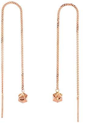 Origami Jewellery Magic Ball Rose Gold Chain Earrings