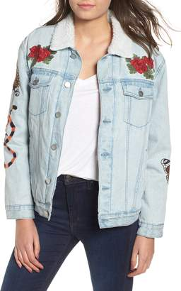 KENDALL + KYLIE Fleece Lined Trucker Jacket
