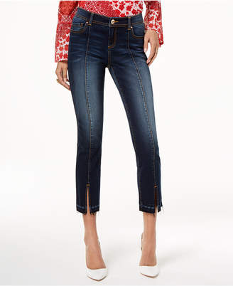 INC International Concepts I.N.C. Cropped Released-Hem Jeans, Created for Macy's