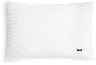 """Lacoste Pleated Stitched Decorative Pillow, 12"""" x 18"""""""