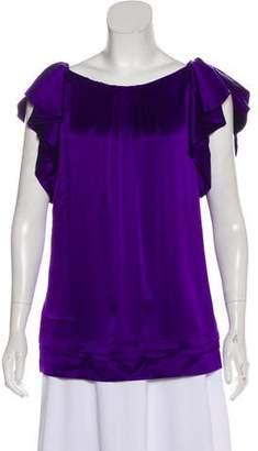 Diane von Furstenberg Short Sleeve Silk Blouse