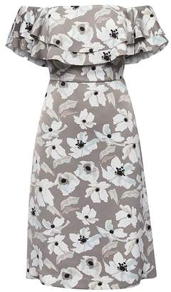 Banana Republic Petite Floral Off-the-Shoulder Dress