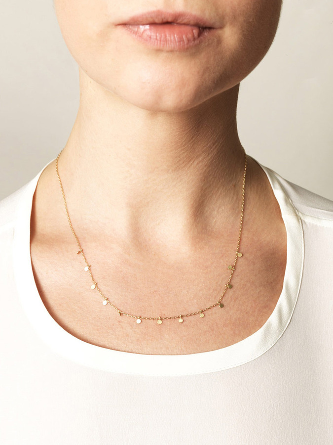 SIA Taylor Little dots yellow-gold necklace
