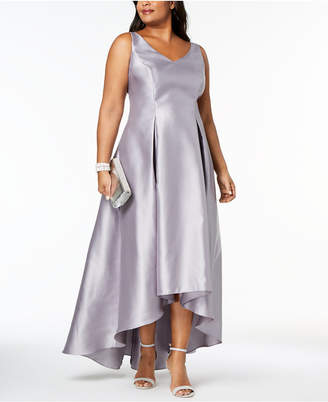 Adrianna Papell Plus Size High-Low Ball Gown