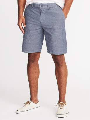 Old Navy Slim Ultimate Built-In Flex Chambray Shorts for Men - 10-inch inseam