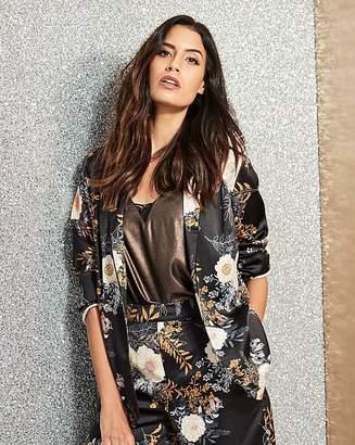 Fashion World Floral Print Satin Blazer