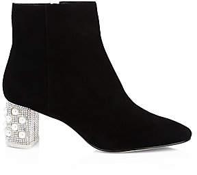 Sophia Webster Women's Toni Suede Embellished Ankle Boots
