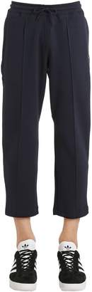 adidas Cropped Sweatpants With Pintucks