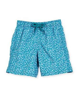 Vilebrequin Jim Micro-Turtle Printed Swim Trunks, Blue Pattern, Boys' 2-8 $120 thestylecure.com