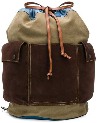Loewe drawstring bucket backpack