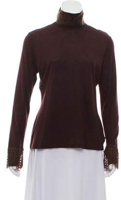 Akris Embellished Cashmere Turtleneck