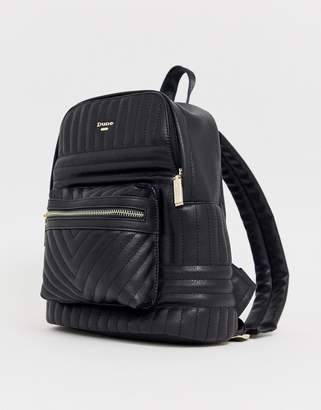 Dune Black Quilted Backpack
