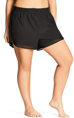 City Chic Mesh Boardie Shorts