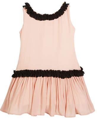 4a15812afb37d Helena Sleeveless Georgette Ruffle Dress