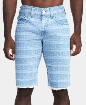 True Religion Men's Ikat-Print Ricky Flap Shorts