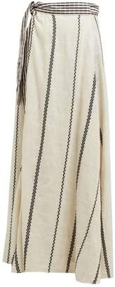 Ace&Jig Sangria Striped Cotton Wrap Skirt - Womens - White