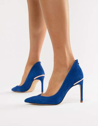 Ted Baker suede pointed high heels