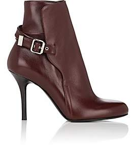 Chloé Women's Scott Leather Ankle Boots - Wine