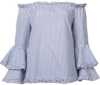 Caroline Constas off-shoulder striped blouse