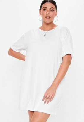 0ff393a119f Missguided Plus Size White Oversized T Shirt Dress