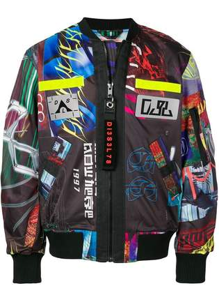 Diesel J-Enka-Print bomber jacket