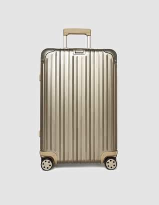 Rimowa 67L Topas Multiwheel E-Tag Suitcase in Titanium