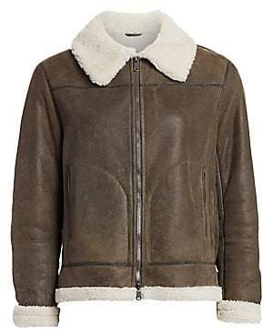 Brunello Cucinelli Women's Shearling Aviator Coat