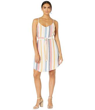 Bella Dahl Mykonos Stripe Belted Smocked Back Dress