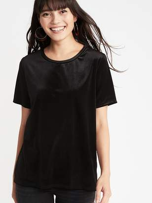 Old Navy Relaxed Velvet Tee for Women