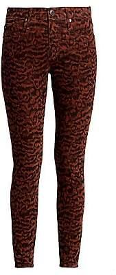 AG Jeans Women's Farrah Print Corduroy Skinny Jeans