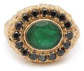 Jade Jagger Skull Emerald, Diamond & 18kt Gold Ring - Womens - Green