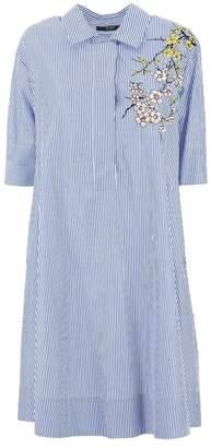 Seventy Iris Embroidery Dress