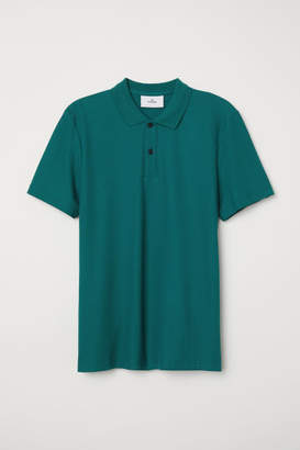 H&M Cotton Polo Shirt - Green