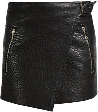 Etoile Isabel Marant Kakili bubbled-leather mini skirt