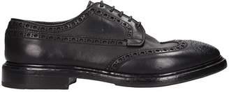Premiata Black Leather Laces Up