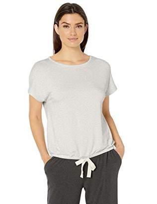 Amazon Essentials Women's Lightweight Lounge Terry Short-Sleeve Tie-Waist Shirt