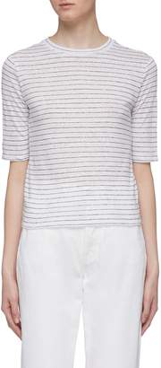 Vince Stripe linen T-shirt
