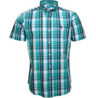 U.S. Polo Assn. Mens Greening Short Sleeve Shirt Sea Green
