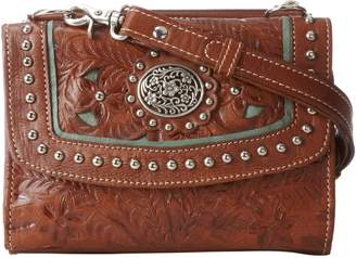 American West Texas 2 Step Grab-and-Go Combination Bag Shoulder Bag Mocha/Turquoise
